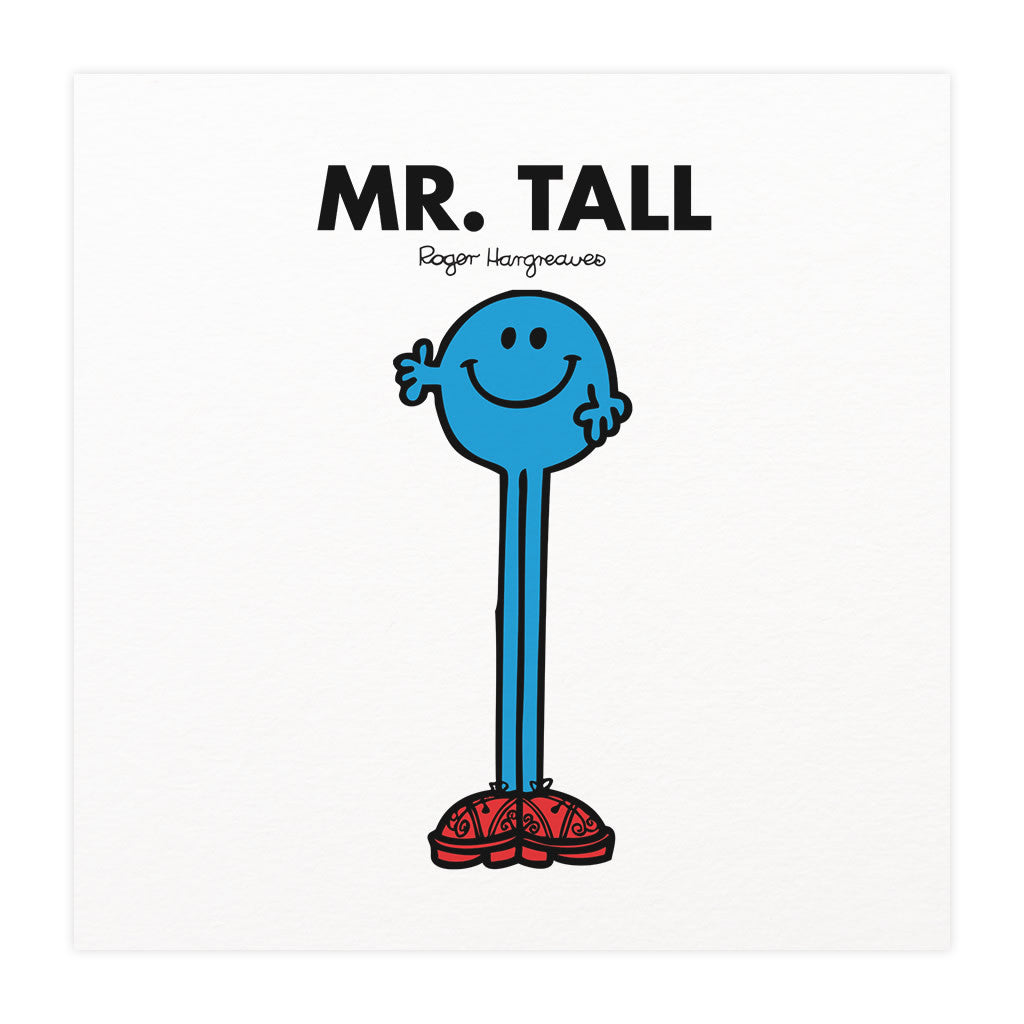 Mr. Tall Mounted Art Print