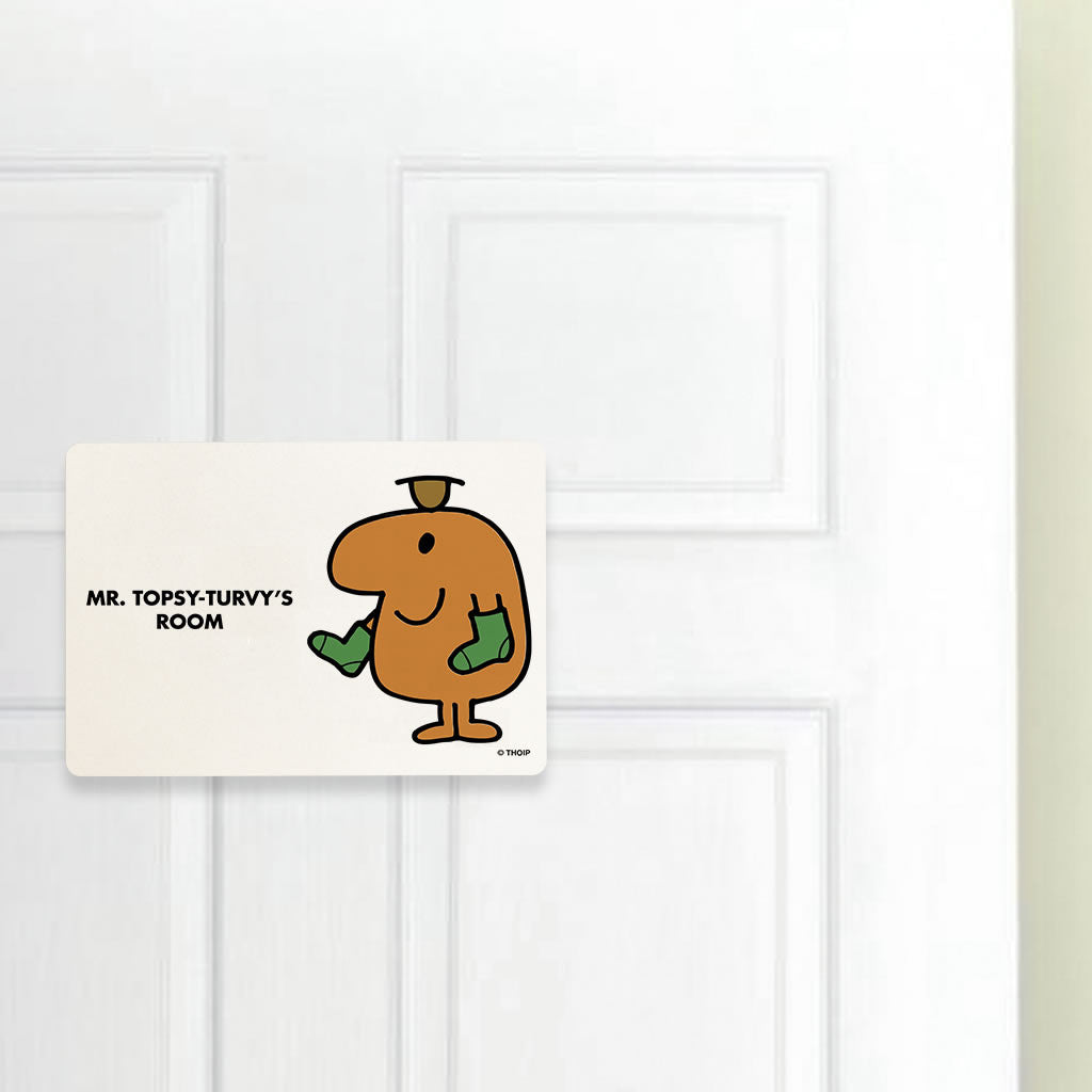 Mr. Topsy-turvy Door Plaque (Lifestyle)
