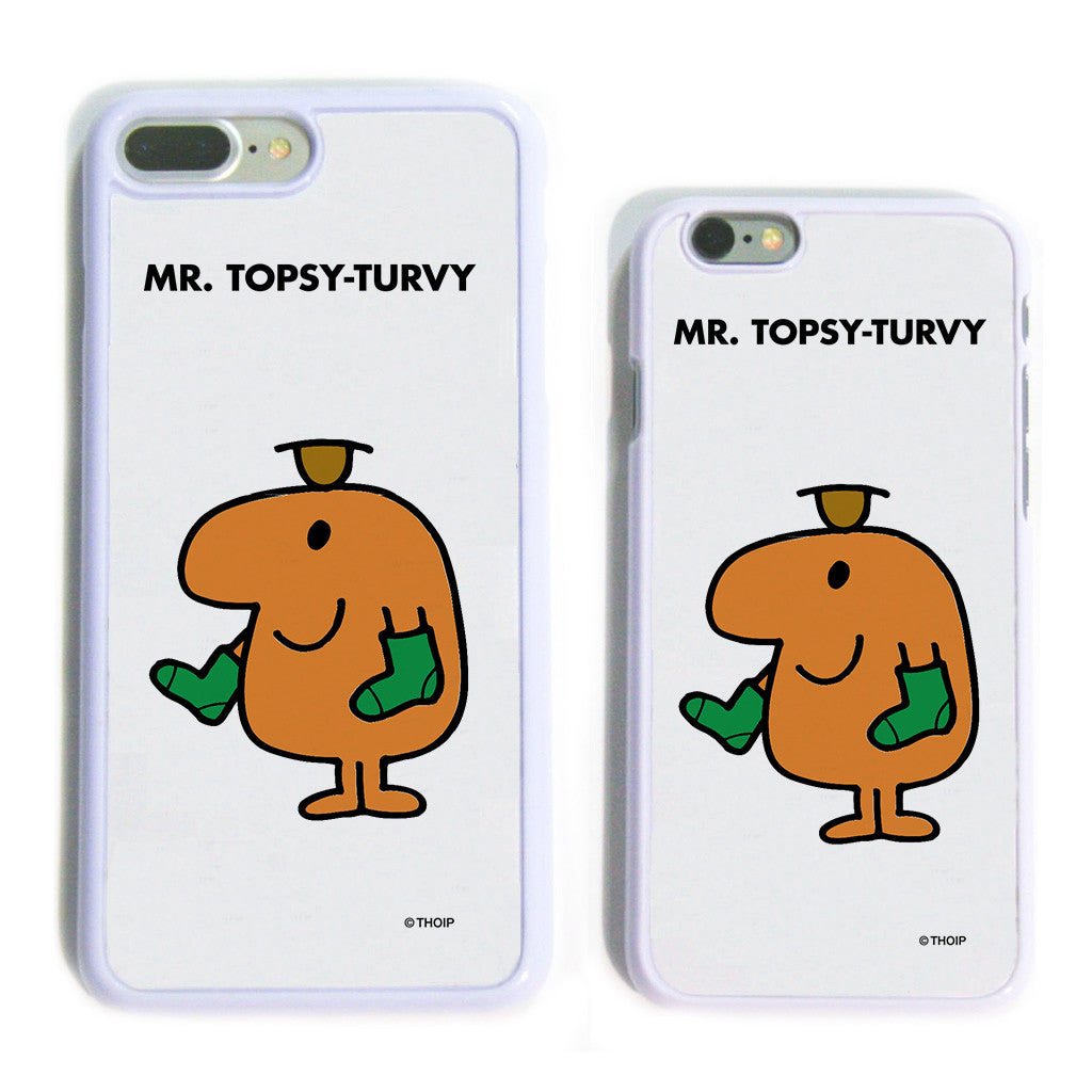 Mr. Topsy-turvy White Phone Case