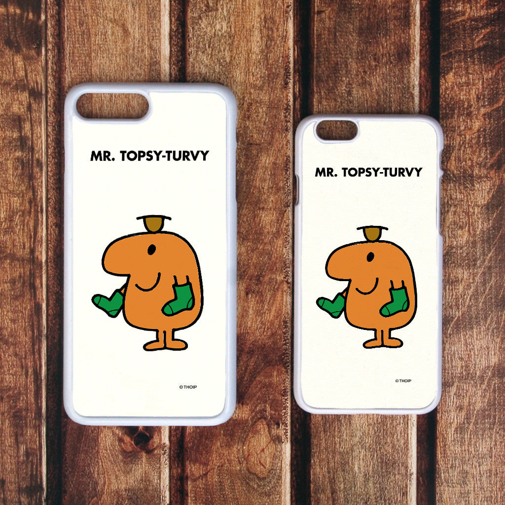 Mr. Topsy-turvy White Phone Case (Lifestyle)