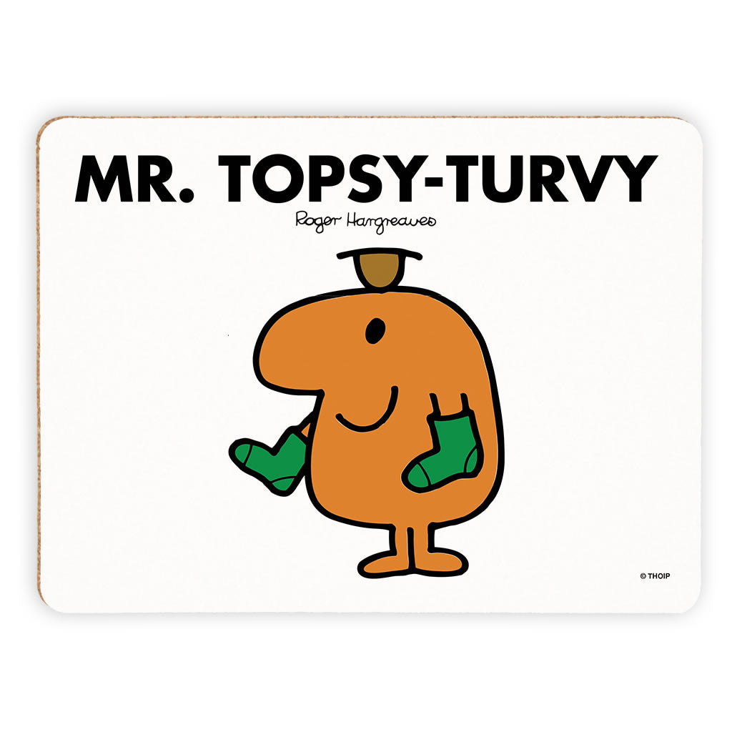 Mr. Topsy-turvy Cork Placemat