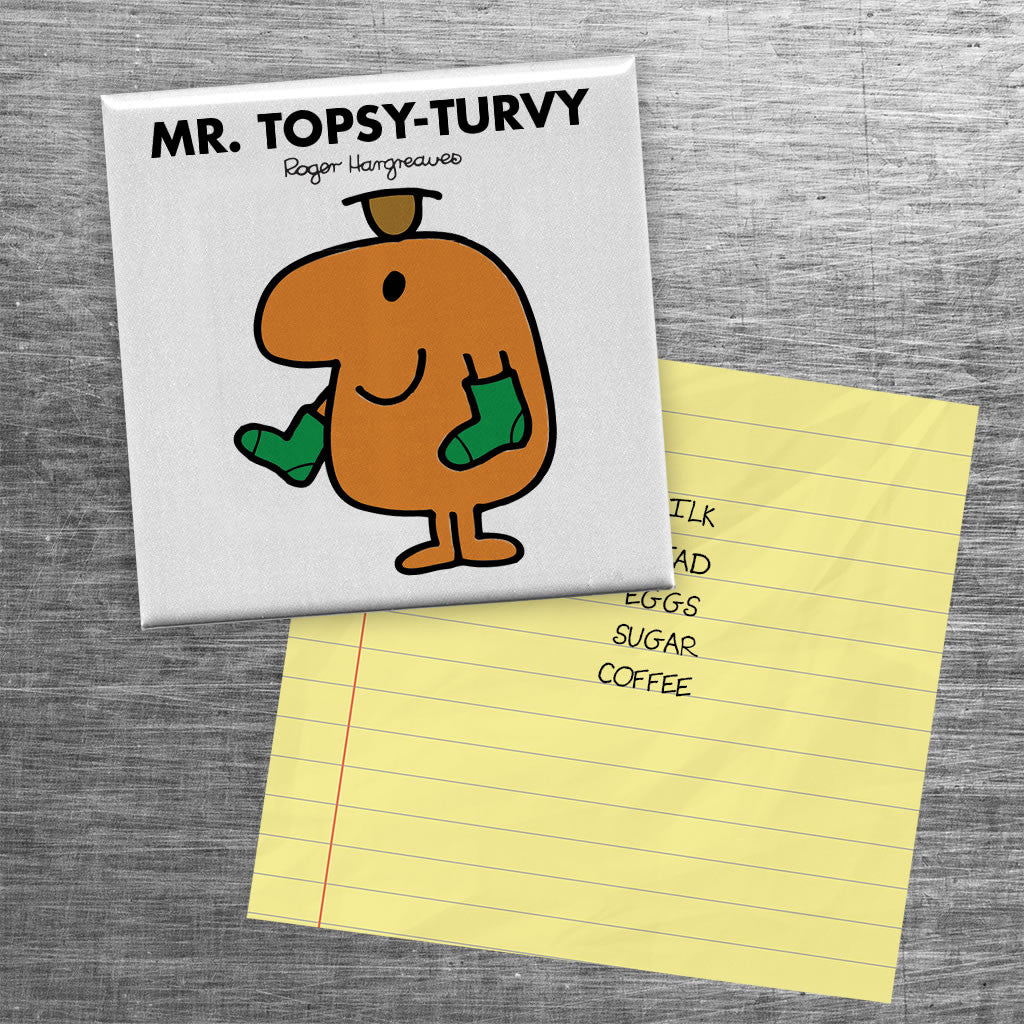 Mr. Topsy-turvy Square Magnet (Lifestyle)