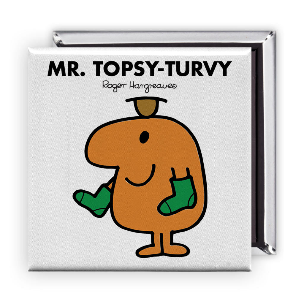 Mr. Topsy-turvy Square Magnet