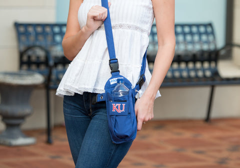 Navy KU Cross-body or Waist Strap Bottle HOLSTR