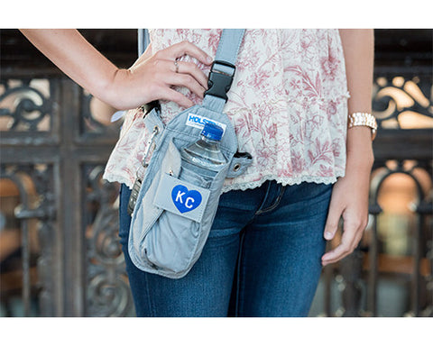 Gray Heart KC Cross-body or Waist Strap Bottle HOLSTR