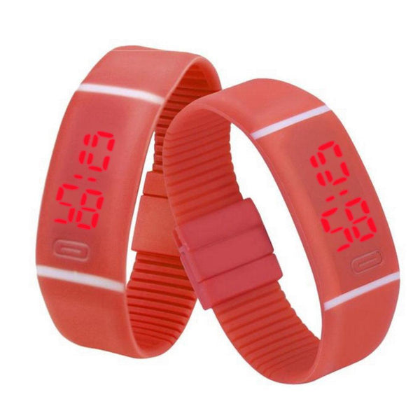 Sports Watch with Rubber LED Digital Watch Date Bracelet Wrist Watches