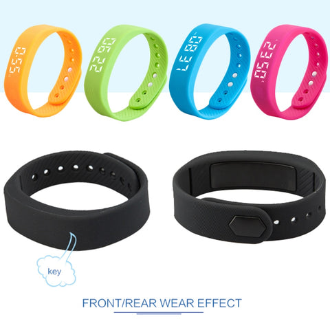 Pedometer 1 Pc 3D T5 LED Display Pedometer Sports Gauge Fitness Bracelet Smart Step Tracker Smart Man Woman Wristbands Smartband