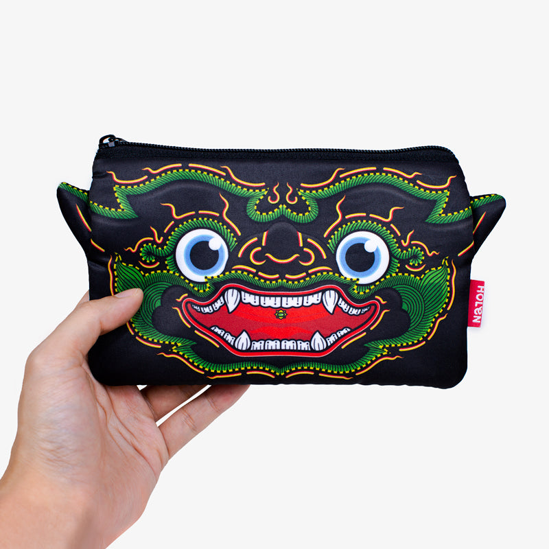 Ramakien Pencil Bag - Nilapat with Hand
