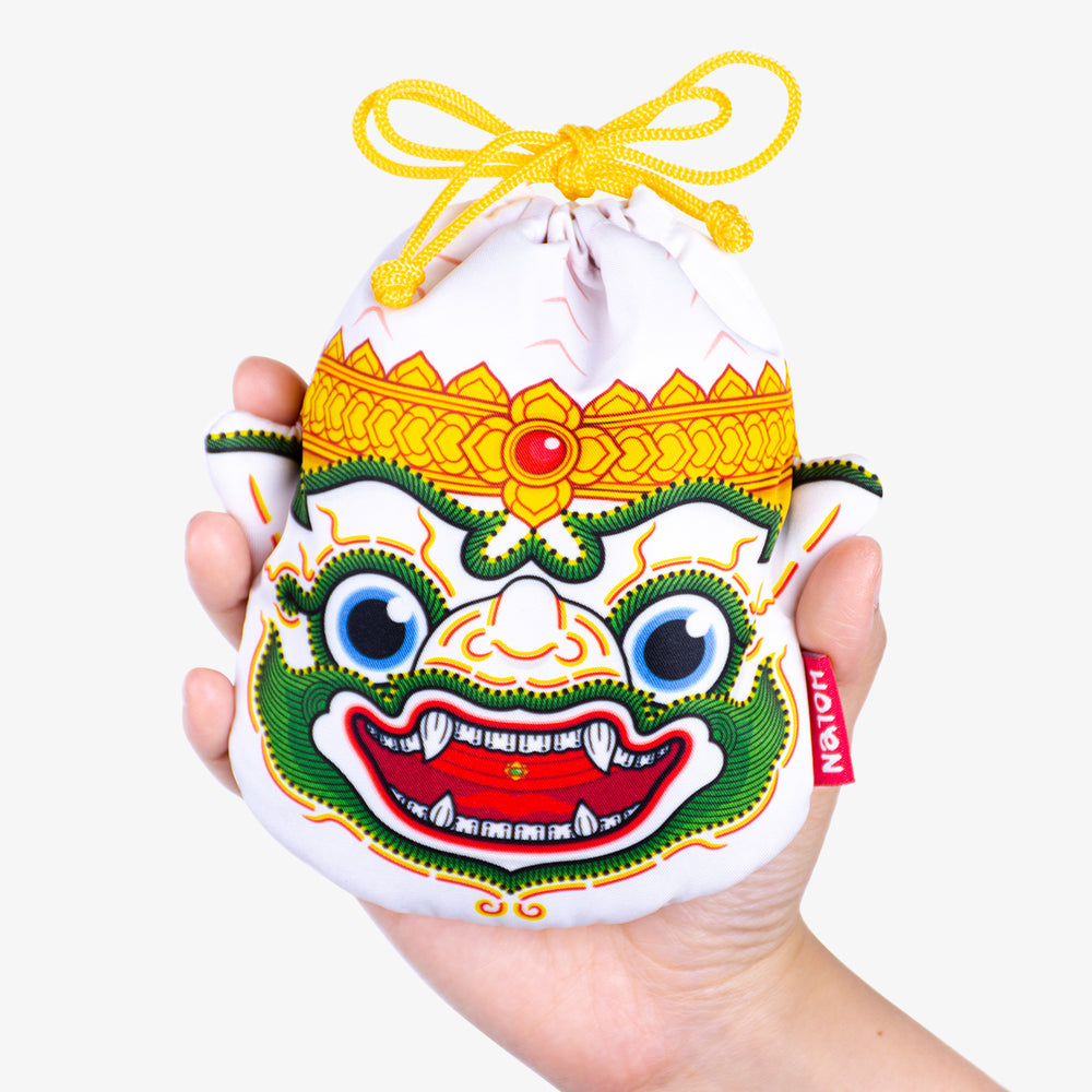 Ramakien Rope Pouch Hanuman Close with Hand