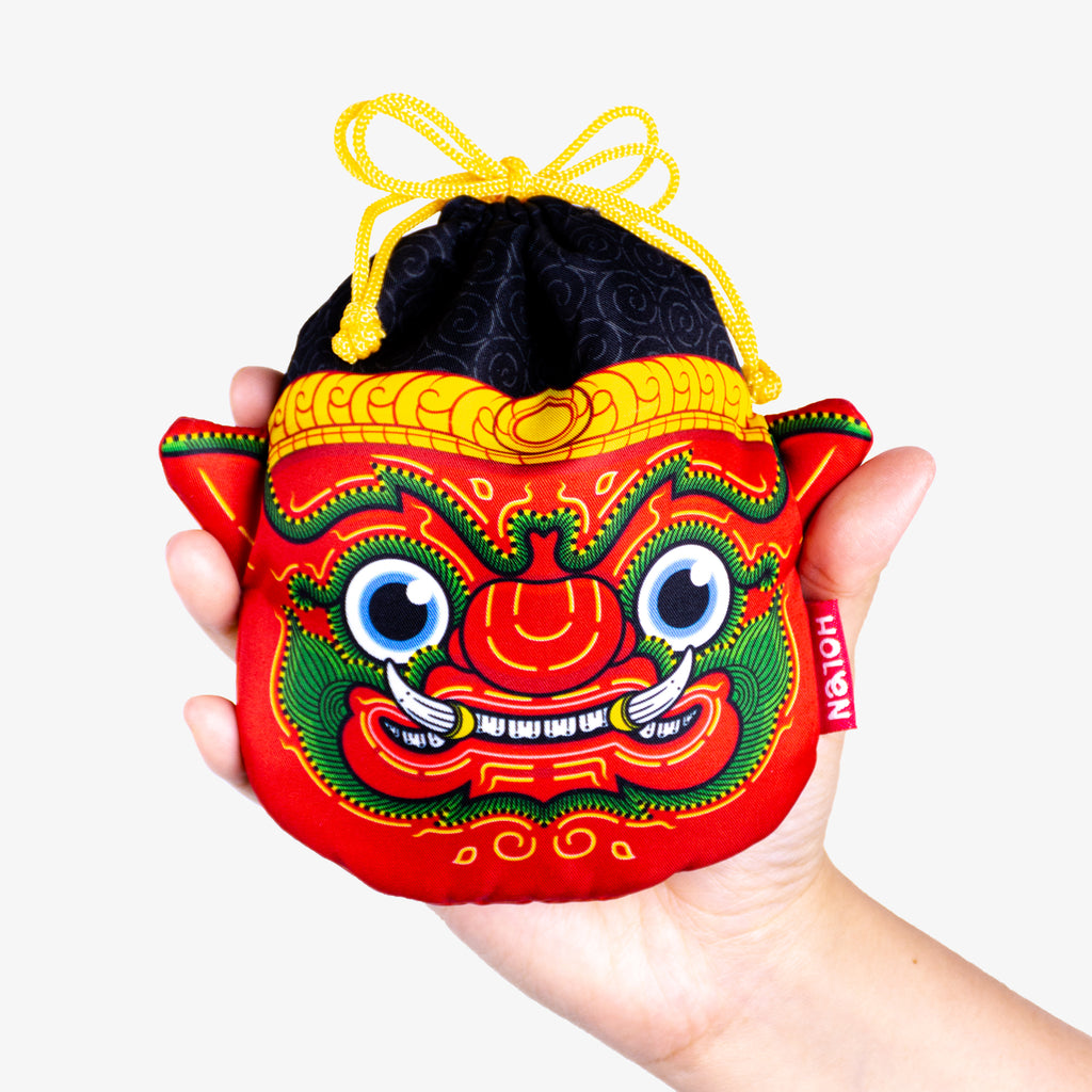 Ramakien Rope Pouch - Rithikasoon Close with Hand