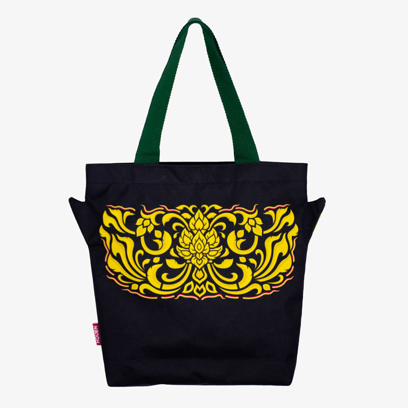 Back side of Ramakien Tote Bag Nilapat