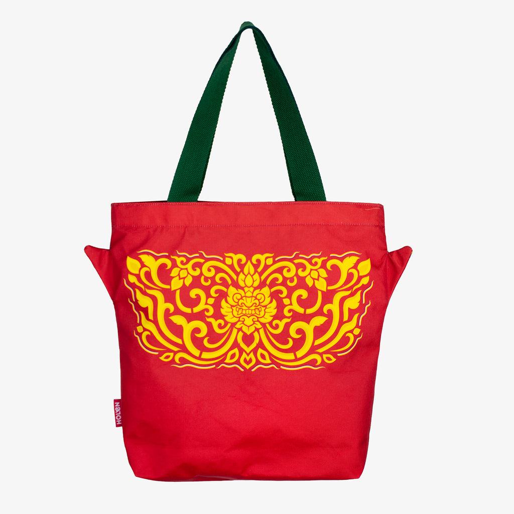 Back Side of Ramakien Tote Bag Tapanasoon