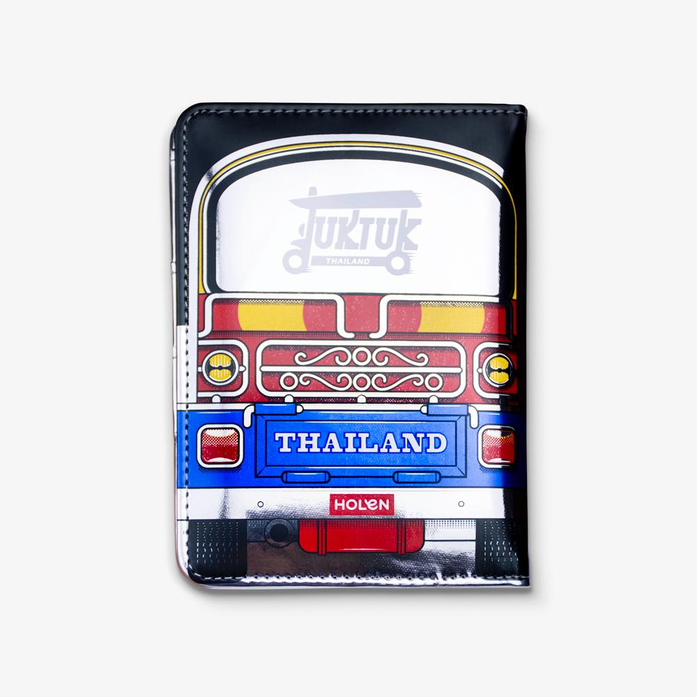 Tuk Tuk Passport Cover Blue Back