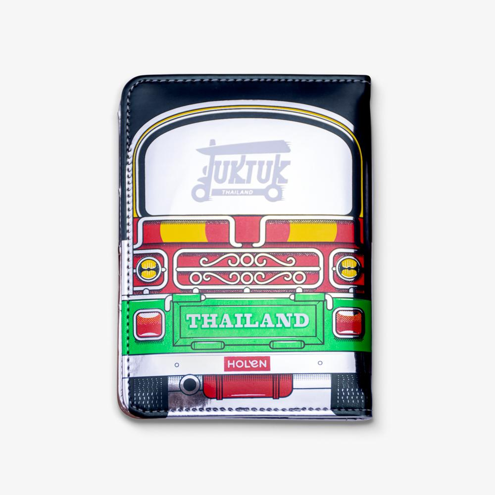 Tuk Tuk Passport Cover Green Back