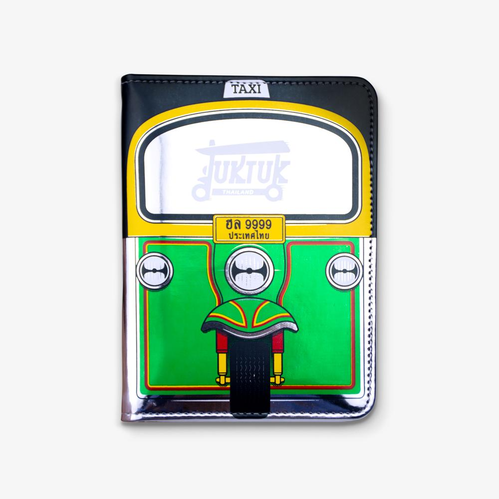 Tuk Tuk Passport Cover Green