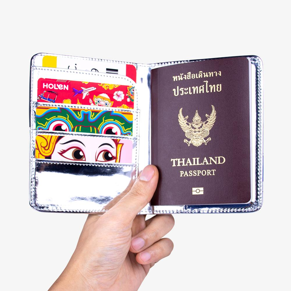 Tuk Tuk Passport Cover Green open