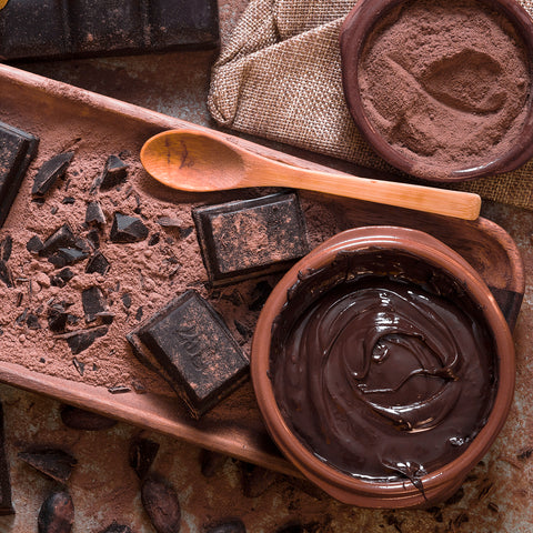 bowl-melted-pieces-chocolate-with-cocoa-beans-powder