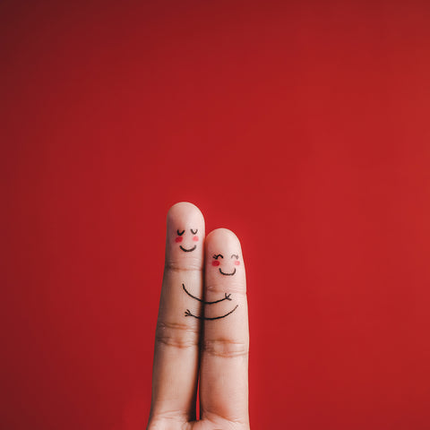finger-with-emotion-red-background