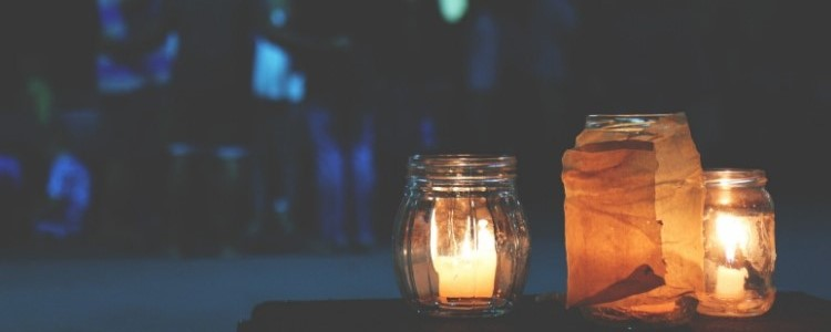 candles in a jar