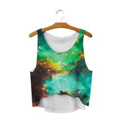 galaxy crop top