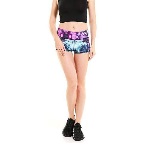High Waisted Geometric Booty Shorts - NuLights
