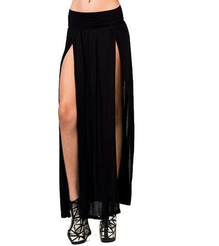 Buy Open Front Maxi Skirt Online | Cheap Girls Rave Outfits | NuLights