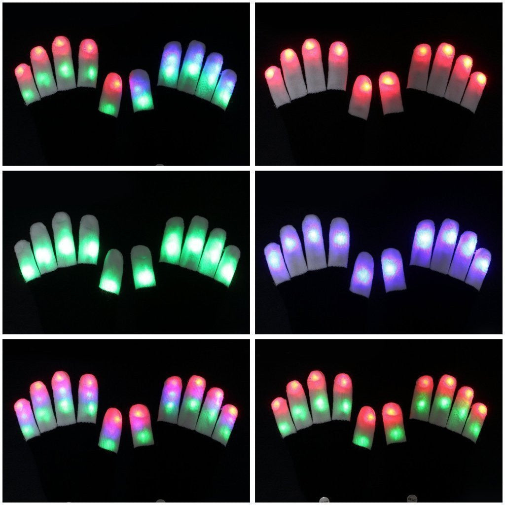 Full Finger LED Rave Gloves - NuLights