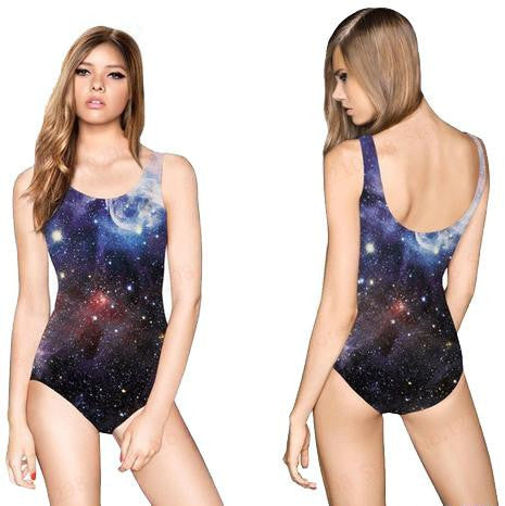 Night Sky Galaxy Bodysuit | Cheap Girls Rave Outfits | NuLights