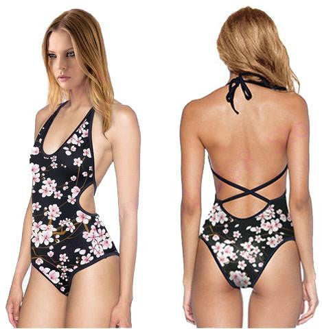 Low Strap Psychedelic Bodysuits - NuLights