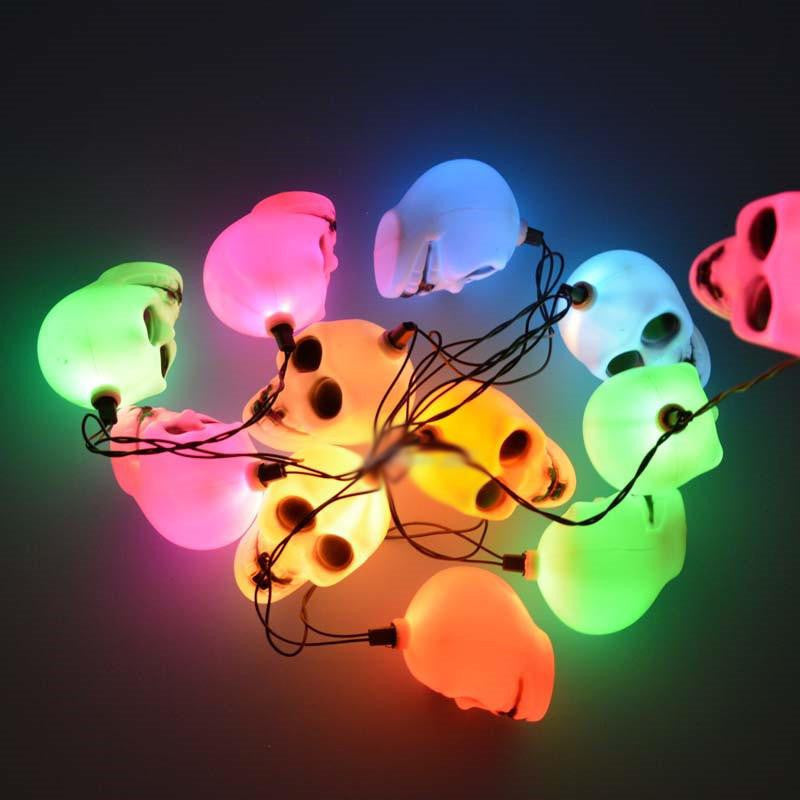 "Halloween ""Skull"" String Lights"