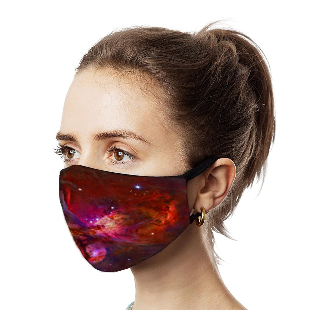 Red Galaxy Face Mask - NuLights