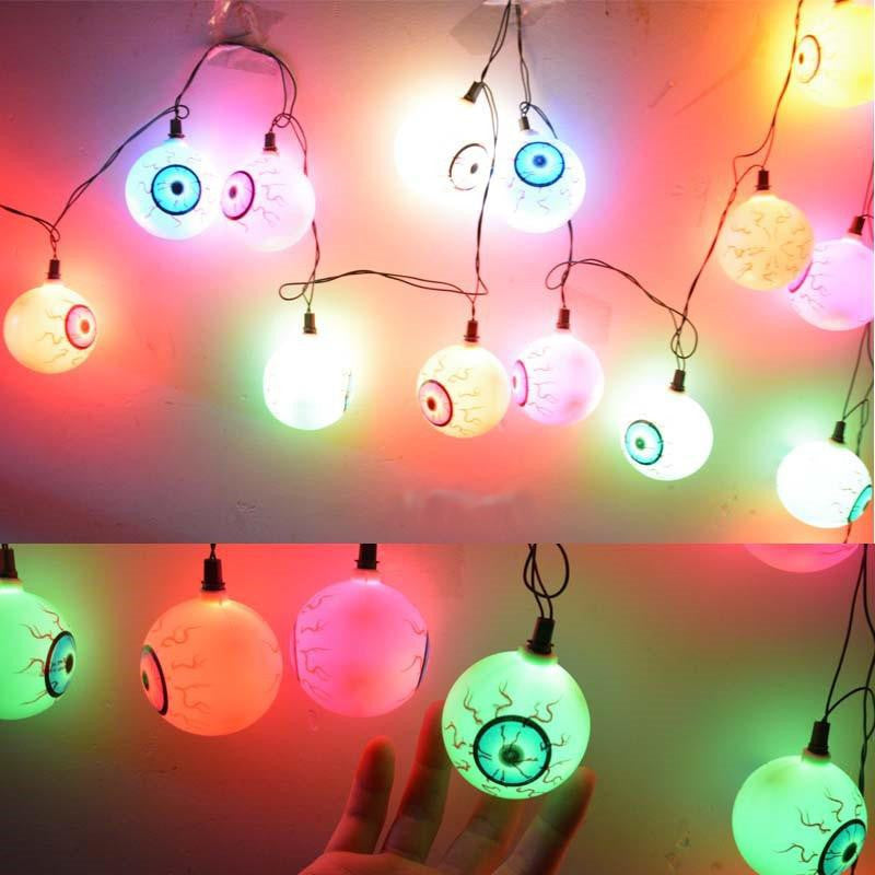 "Halloween ""Eye Ball"" String Lights"