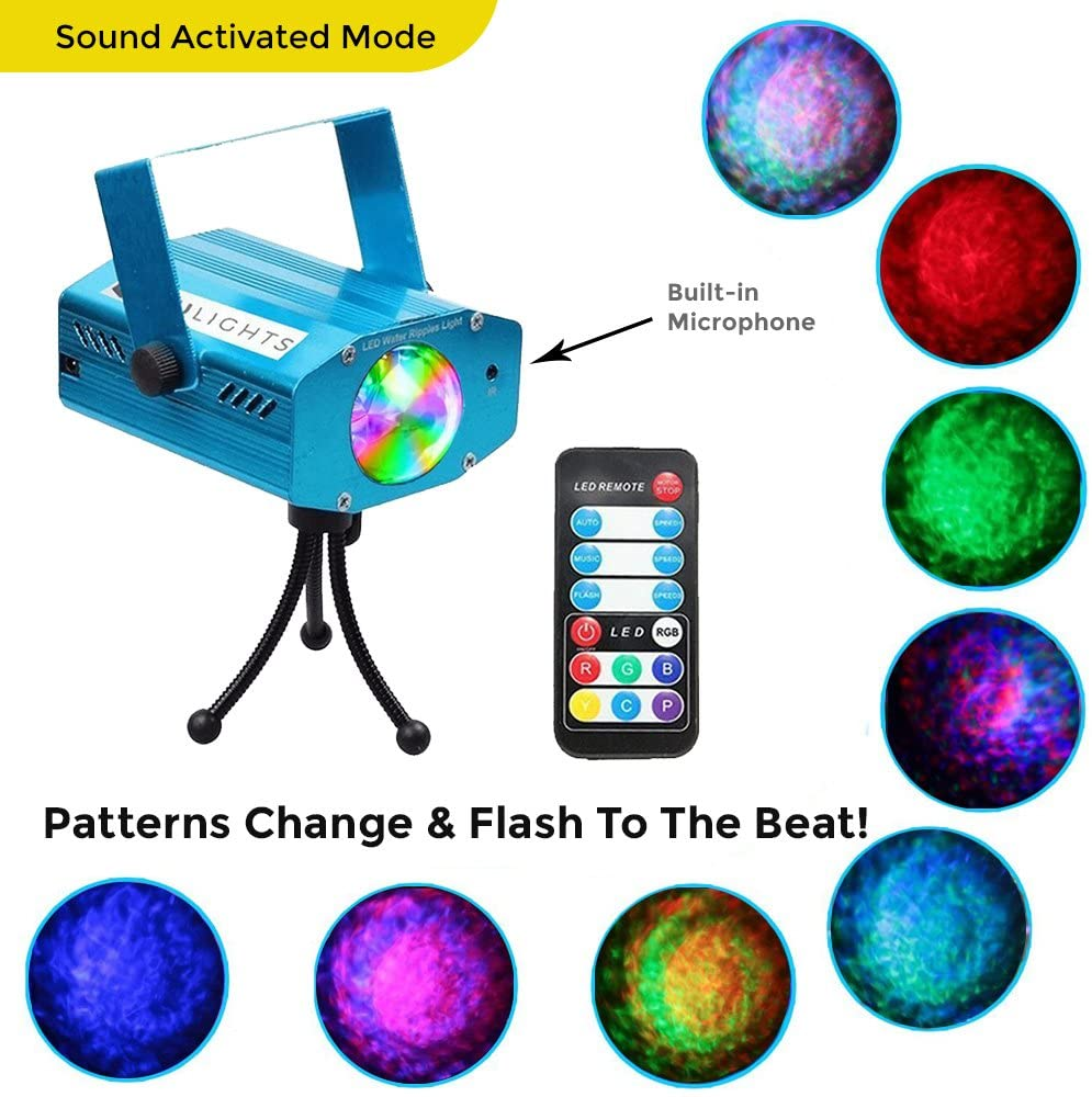 Patterns Flash | Sound Activated | Laser Party Light