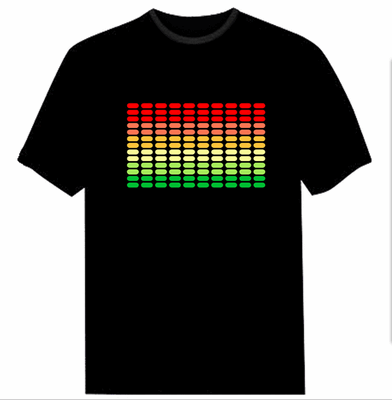 Light Up Rave Tee 2 | Cheap Mens Rave Clothing | NuLights