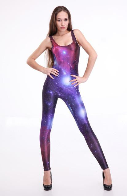 Long Leg Galaxy Bodysuit 1 | Girls Rave Outfits | NuLights