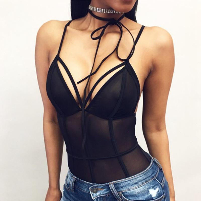 Black Lace Bodysuit | Cheap Girls Rave Outfits | NuLights
