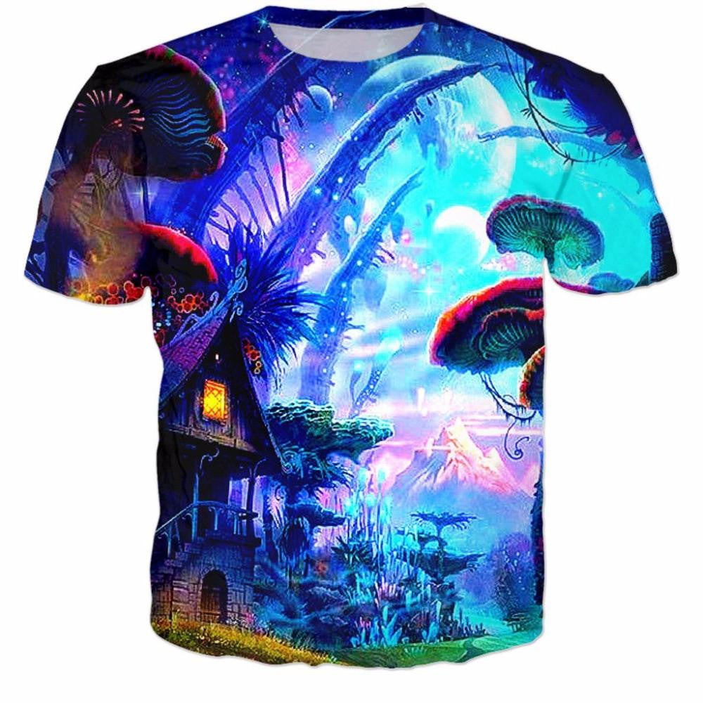 Buy Mushroom Land Tee Online | Cheap Mens Rave Clothing | NuLights