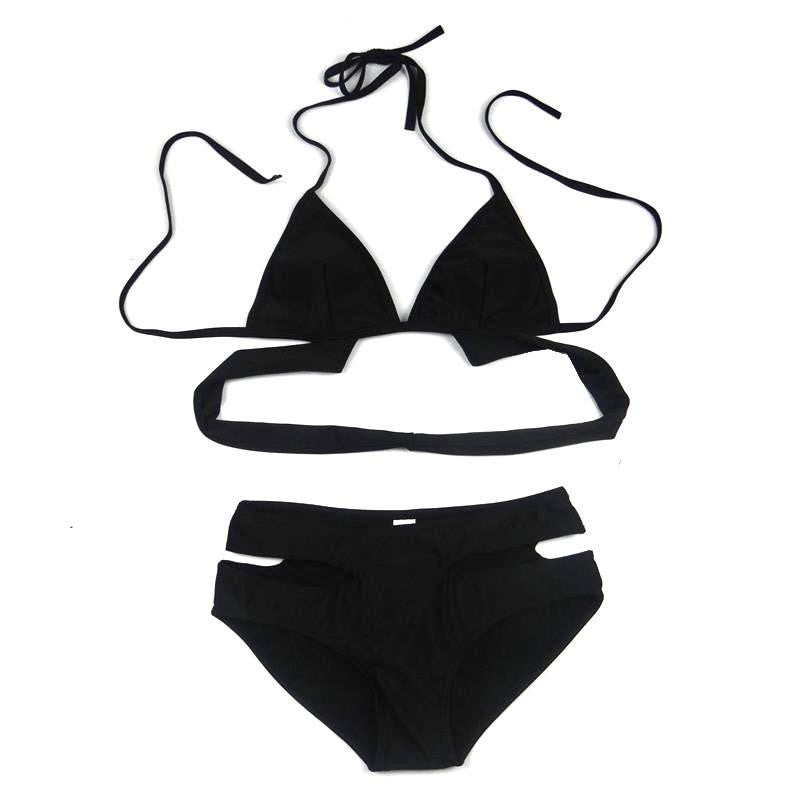 5f90832c71 Black Two Piece Swimsuit - NuLights