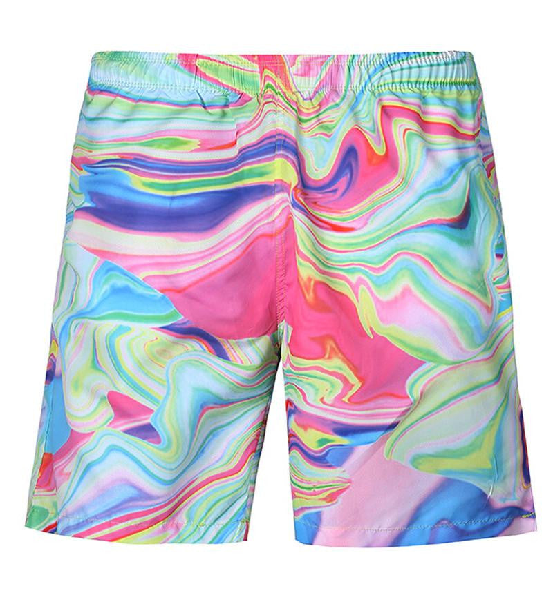 Tie Dye Men's Shorts 1 | Cheap Mens Rave Clothing | NuLights