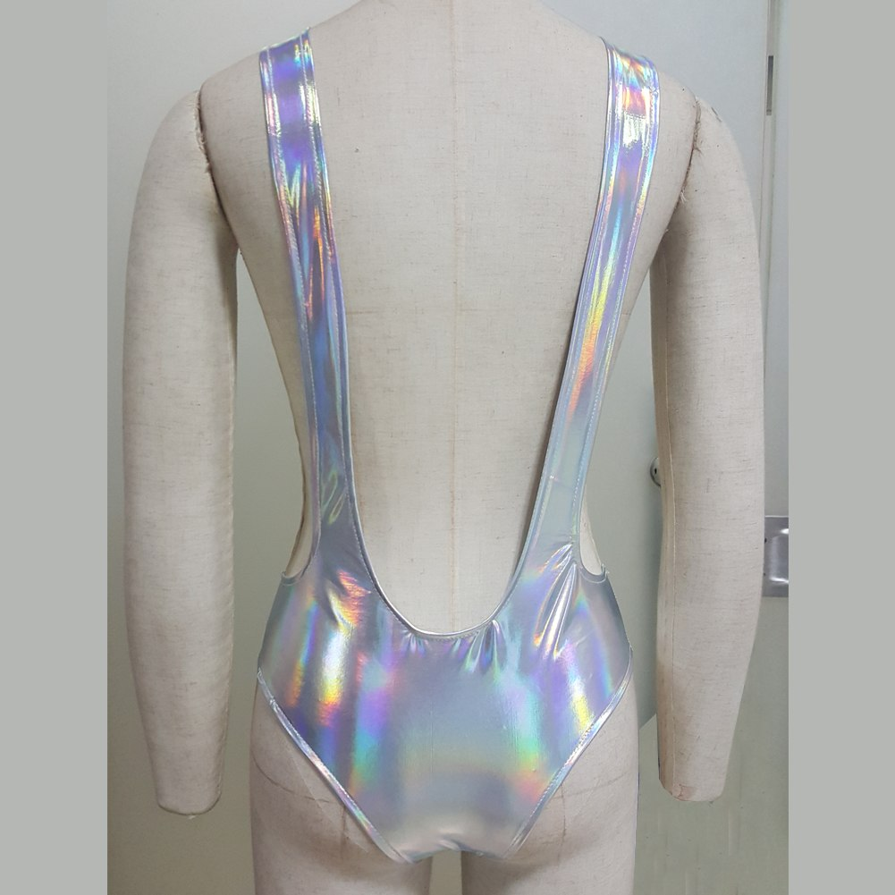Sexy Holographic Shorts With Strips - NuLights