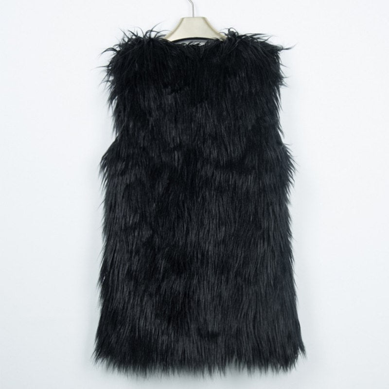 Colored Faux Fur Vest - NuLights