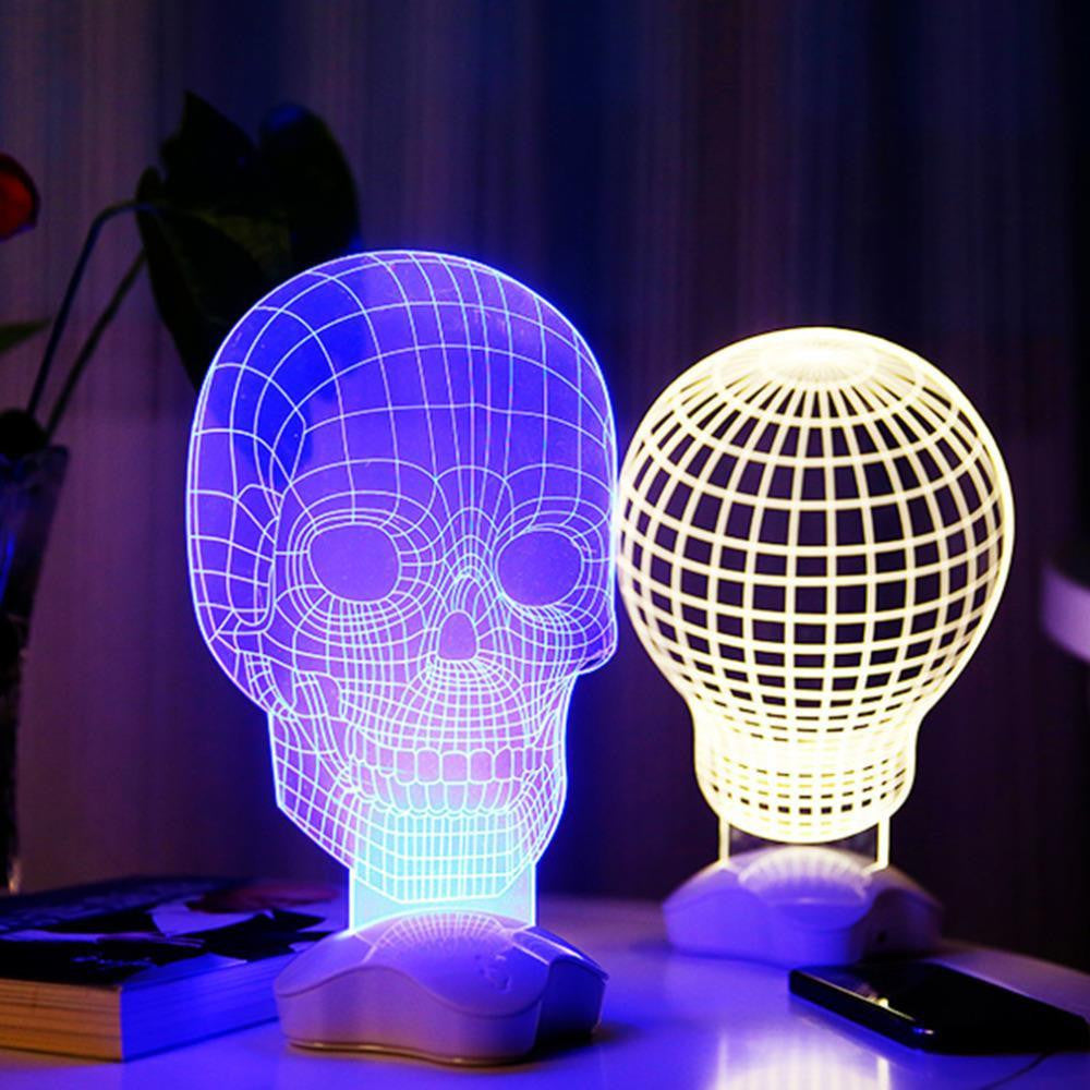 3D Optical Illusion Skull Lamp - NuLights