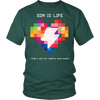 Rainbow Heart Tee - Dark Colors