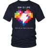 Rainbow Heart Tee - Dark Colors - NuLights