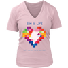 Rainbow Heart Tee - Light Colors - NuLights
