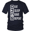 Eat Sleep Rave Repeat Tee - NuLights
