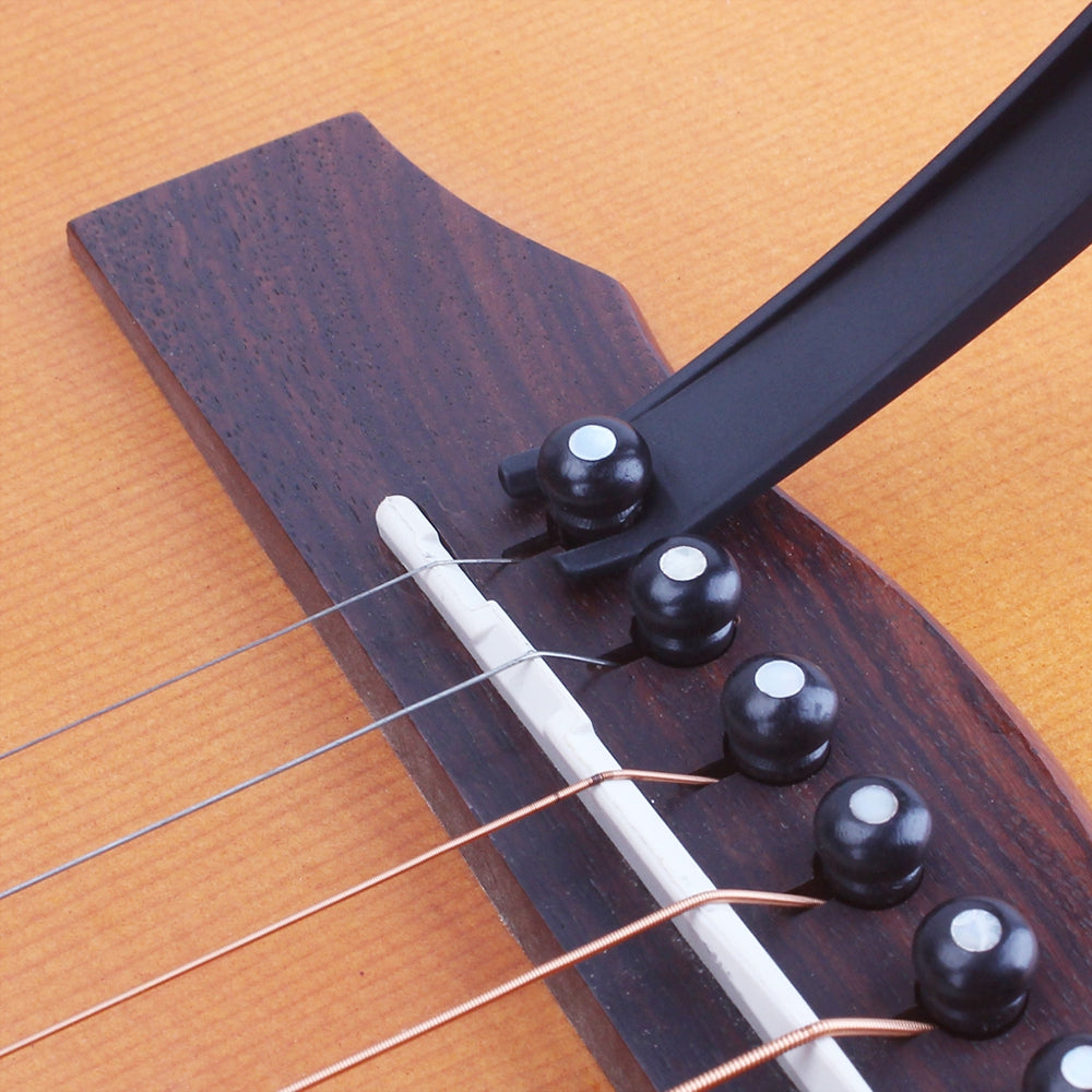 Electric Acoustic Guitar Capo with Bridge Pin Remover