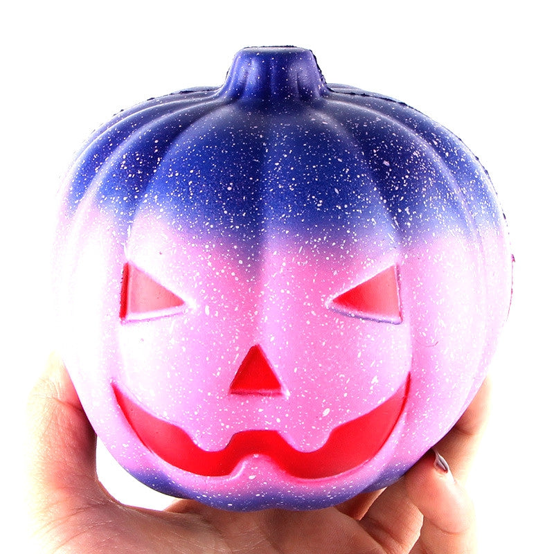 12CM Night Star Pumpkin Soft Slow Rising Toy Made By Enviromental PU Material COLORMIX Squishy Toys