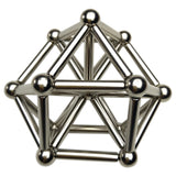 36PCS Silver Magnetic sticks and 27PCS Steel Ball Magnets Puzzle Toy Gift