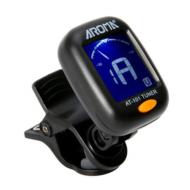 LED Tuner Clip-on Chromatic Electronic Guitar Ukulele Violin Digital Bass Tuner BLACK Instruments Parts & Accessories